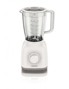 Philips HR2100 Blender con potenza di 400W,2 velocità, lama per mescolare e tagliare ingredienti, recipiente in plastica