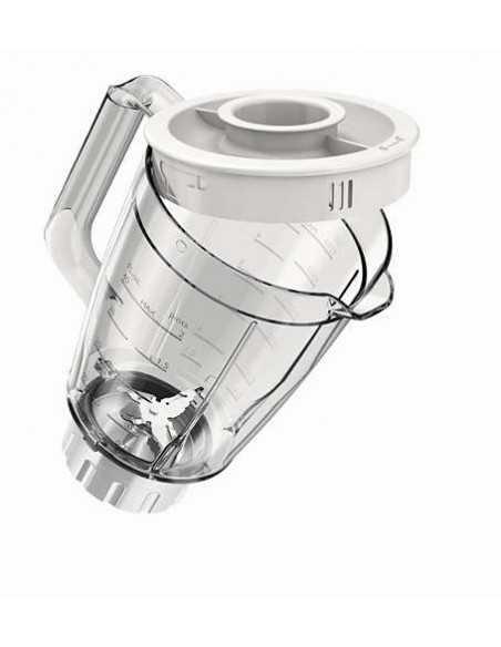 Frullatore Blender con lama a stella e recipiente in plastica rinforzato anti urto Philips HR2100/00, 400W, 2 Velocità e Pulse