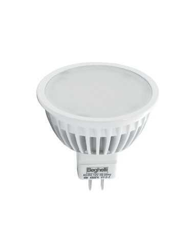 Beghelli 56033 Lampadina a LED bispina dicroica (GU 5.3) 4W,Luce calda (3000°K), 350lm