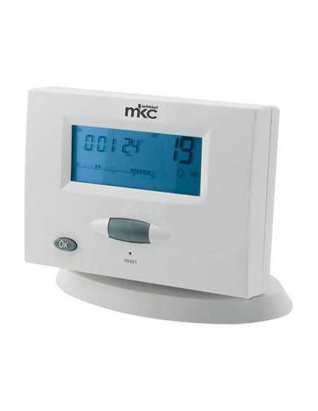 Cronotermostato Wireless digitale Settimanale a batterie da parete Melchioni 493933764, Ricevitore per caldaia incluso, 5-30°C