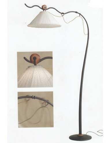 Lampada da terra ad arco Lipparini Brezza|Paralume in tessuto pois|E27||MADE IN ITALY|Coppolav.it: Prodotti fuori produzione