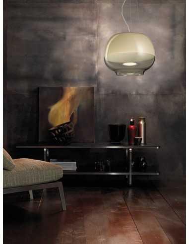 Lampada a sospensione Vistosi Mirage SP con LED da 17,5W luce calda|Colori: bianco/cristallo in Murano|Coppolav.it: Sospensioni