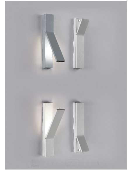 Applique da parete LED Bianco moderno Cattaneo On-Off 762/4.5 A, Sistema LED 7,5W, Luce calda, 1000 Lumen, MADE IN ITALY