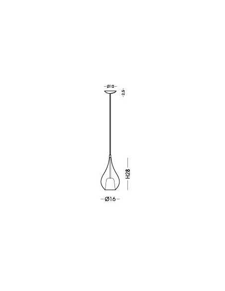 Lampada a sospensione Cangini&Tucci Zoe 1303.1L con vetro di Murano|Oro metallizzato|MADE IN ITALY|Coppolav.it: Sospensione