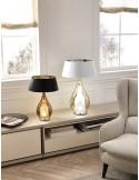 Lume Cangini&Tucci LUXXL1303 con vetro di murano trasparente e paralume|E27|MADE IN ITALY|Coppolav.it: Lume da tavolo