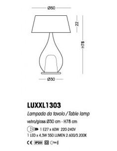 Lume da tavolo Cangini&Tucci LU1303 con vetro di murano ambra e paralume|E14|MADE IN ITALY|Coppolav.it: Lume da tavolo