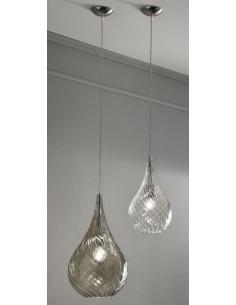 Sospensione Cangini&Tucci RGIG1253.1L con vetro di murano ambra|E27|MADE IN ITALY|Coppolav.it: Sospensione