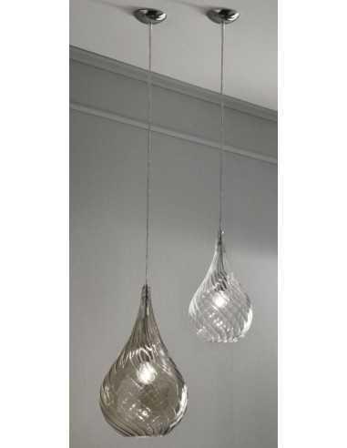 Sospensione Cangini&Tucci RGIG1253.1L con vetro di murano ambra E27 MADE IN ITALY Coppolav.it: Sospensione