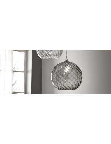 Sospensione Cangini&Tucci Parigi Rigadin RGIG1213.1L con vetro di murano ambra|E27|MADE IN ITALY|Coppolav.it: Sospensione