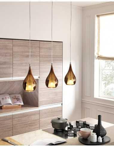 Sospensione Cangini&Tucci Zoe XXL1303.1L con vetro di murano cromo metallizzato|E27|MADE IN ITALY|Coppolav.it: Sospensioni