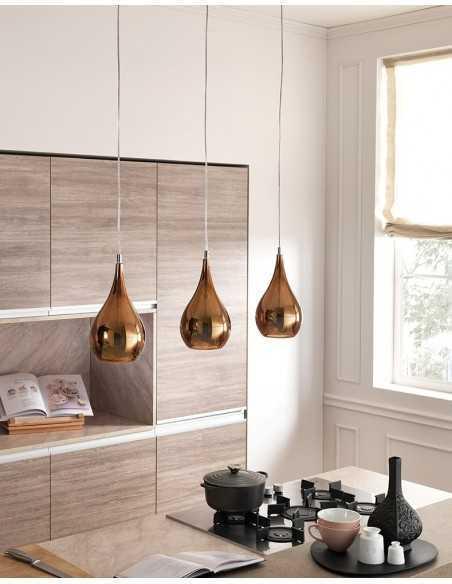 Sospensione Cangini&Tucci Zoe GIG1303.1L in vetro di murano cromo metallizzato|E27|MADE IN ITALY|Coppolav.it: Sospensioni