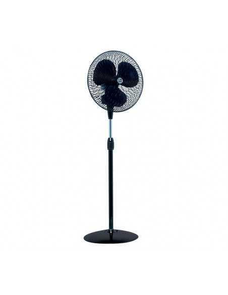 Ventilatore a piantana nero oscillante Vortice 60621 Gordon C40/16, Diametro 40 cm, 3 Velocità, 4000 m3/h, MADE IN ITALY