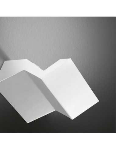 Lampada da parete bianca a LED Cattaneo Tegola 752/18A 4 LED da 4,2W 3000°K Forma di tegola Coppolav.it: Applique