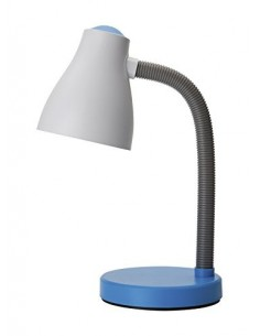 Lampada da scrivania bianca e arancione ideale per camera di bambini e ragazzi Perenz 6036C, Plastica resistente, 1 E27, IP20