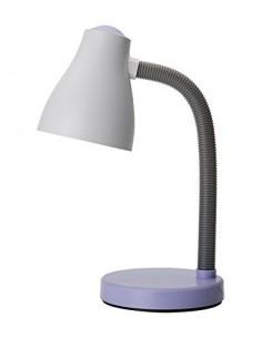 Lampada da scrivania bianca e viola ideale per camera di bambini e ragazzi Perenz 6036VI, Plastica resistente, 1 E27, IP20