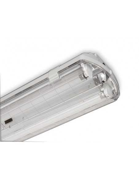 Plafoniera stagna per tubi LED Beghelli 72003ST, IP65 tenuta stagna, tubi LED da 18W, 220V, A++|Coppolav.it: Plafoniere