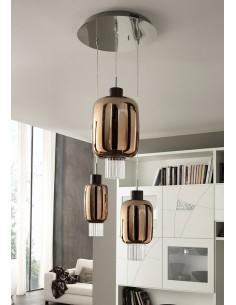 Sospensione Cangini&Tucci Dolium 1369MX.3L con vetro di murano oro metallizzato|E27|MADE IN ITALY|Coppolav.it: Sospensioni