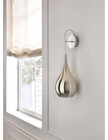 Lampada da parete Cangini&Tucci AP1301.1L in vetro di murano ambra|G9|MADE IN ITALY|Coppolav.it: Applique