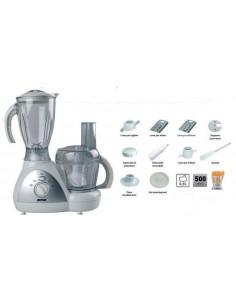Robot da cucina multifunzione con 8 accessori e motore da 500W Zephir ZHC1400, 4 Velocità e Pulse, Blocco di sicurezza