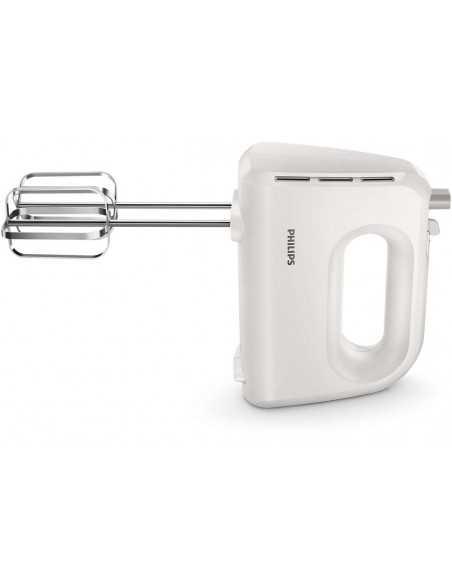 Mixer Philips HR3705/00 con fruste e ganci in acciaio inossidabile per impastare, 300W, 5 velocità + turbo, leggero Coppolav.it