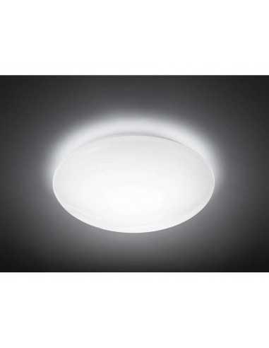 Plafoniera LED 20W Philips Suede, Luce naturale 4000K, 2350 lumen, Diametro 38 cm, 5 anni di garanzia, Bianca