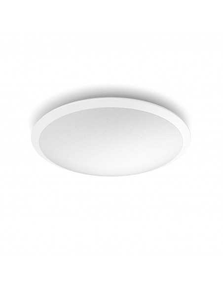 Plafoniera LED dimmerabile tonda 18W Philips Cavanal, Luce naturale 4000K, 1600 Lumen, Diametro 35 cm, Bianca: Coppolav.it