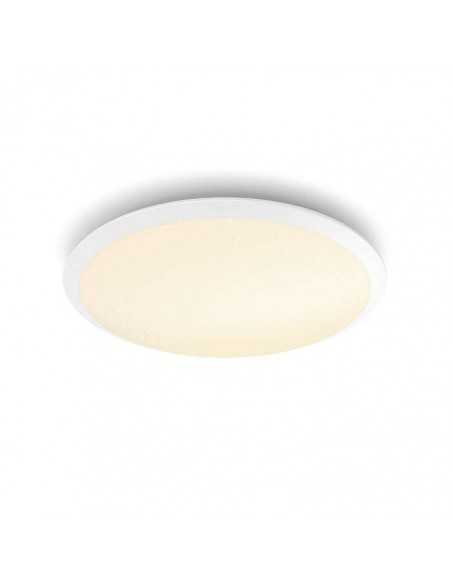 Plafoniera LED dimmerabile tonda 18W Philips Cavanal, Luce calda 2700K, 1500 Lumen, Diametro 35 cm, Bianca: Coppolav.it