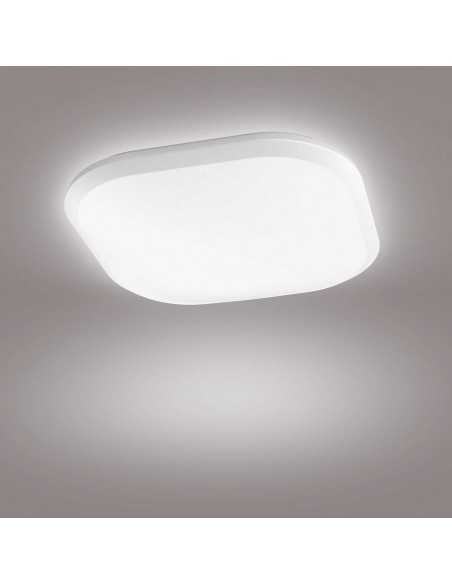 Plafoniera LED dimmerabile quadrata 18W Philips Cavanal, Luce naturale 4000K, 1600 Lumen, 30x30, Bianca: Coppolav.it: Plafoniera