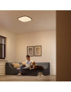 Plafoniera LED dimmerabile quadrata 18W Philips Cavanal, Luce calda 2700K, 1500 Lumen, 30x30, Bianca: Coppolav.it Plafoniera