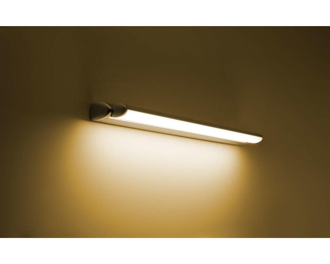 Applique led orientabile w philips lamine luce calda k