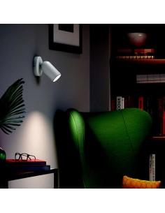 Faretto spot orientabile da soffitto e parete Philips Pongee, GU10, Bianco: Coppolav.it: Faretti da parete