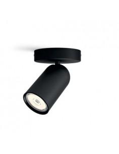 Faretto spot orientabile nero da soffitto e parete Philips Pongee, GU10: Coppolav.it: Faretti da parete