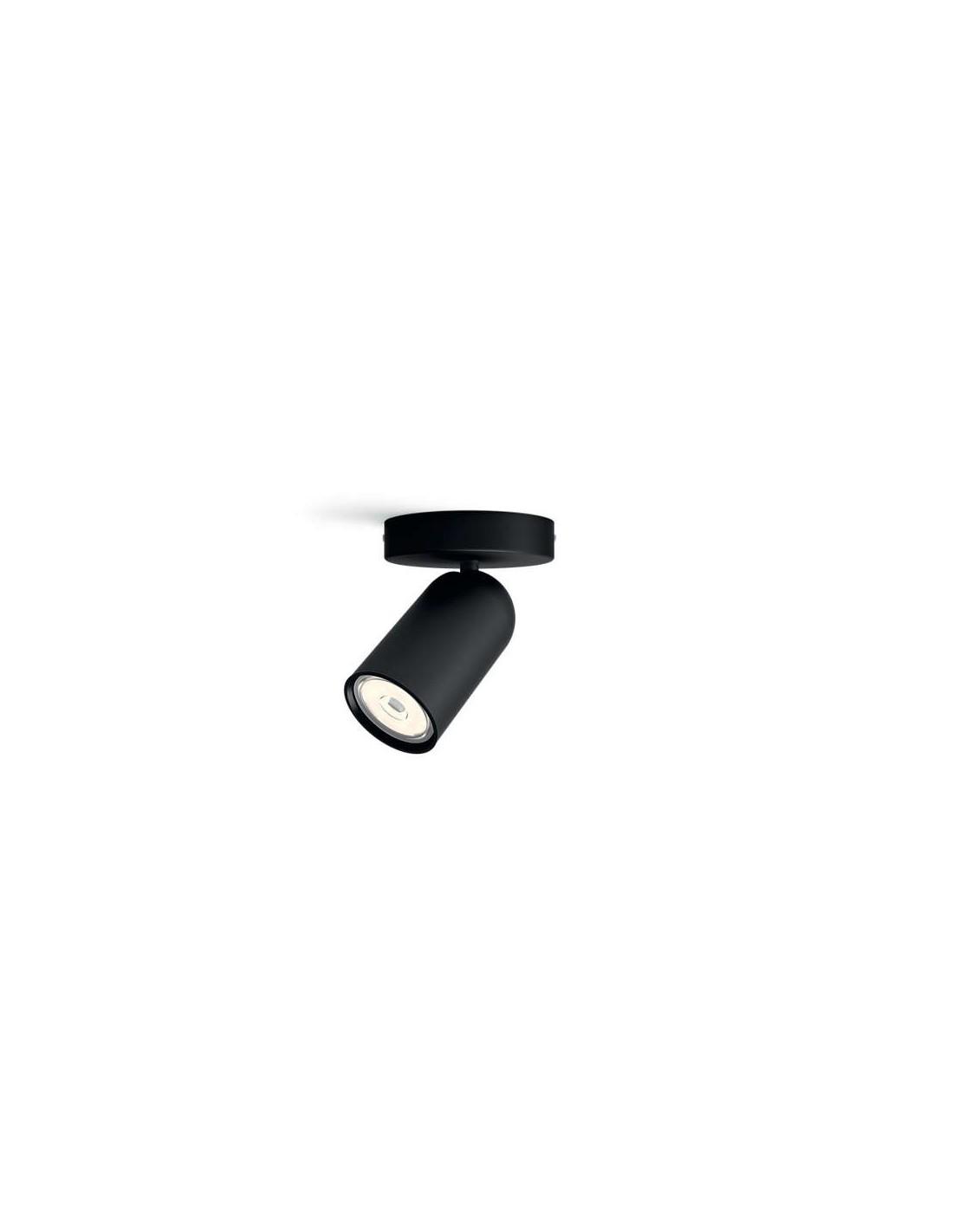 Faretti E Spot Da Soffitto faretto spot orientabile nero da soffitto e parete philips pongee, gu10:  coppolav.it: faretti da parete