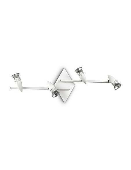 Applique spot a soffitto con 4 luci Ideal Lux Alfa PL4 Bianco, GU10, IP20|Coppolav.it: Ideal Lux