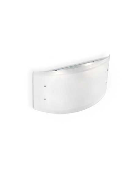 Plafoniera a soffitto con vetro bianco, 4 luci E27 Ideal Lux Ali PL4|Coppolav.it: Plafoniera
