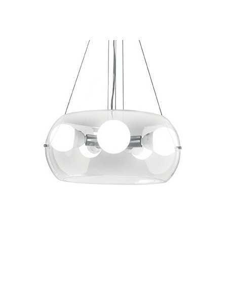 Sospensione con vetro soffiato a mano trasparente, 1 Luce E27, Ideal Lux Anfora SP1 Small: Coppolav.it: Sospensione
