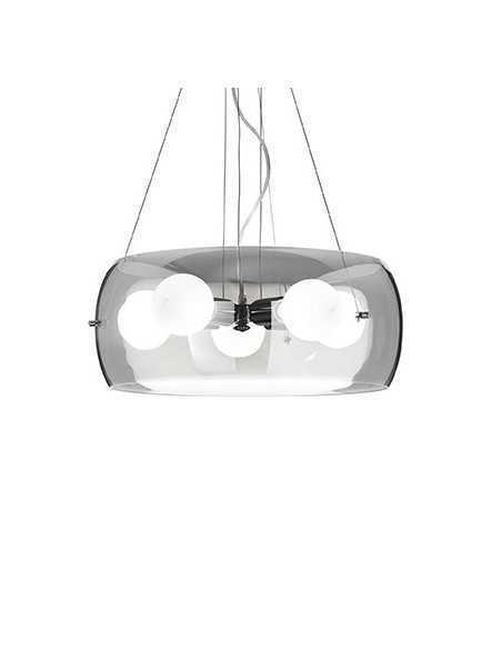 Applique a parete con vetro soffiato a mano trasparente, 1 Luce G9, Ideal Lux Anfora AP1