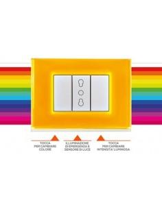 Beghelli Brain Classic Placca luminosa touch con 15 colori e illuminazione di emergenza inclusa: Coppolav.it: Beghelli Brain