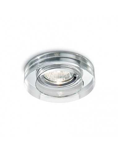 Faretto da incasso con vetro cristallo trasparente, attacco GU10, Ideal lux Blues Round