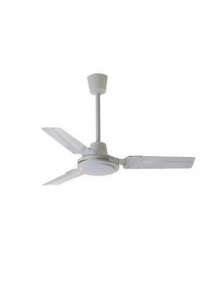 Ventilatore da soffitto bianco con 3 pale in metallo e comando a muro Zephir ZFS8120