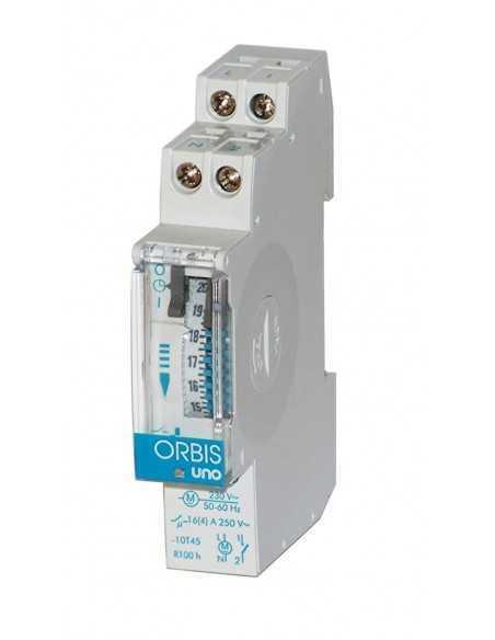 Interruttore orario analogico da quadro elettromeccanico Orbis UNO QRD OB400232 con riserva di carica: Coppolav.it: Interruttore