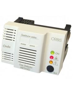 Rilevatore fughe di gas metano da incasso e parete Orbis ONDA OB510000 compatibile con Bticino, Vimar, Gewiss, Legrand e Siemens
