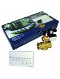 """Rilevatore fughe di gas metano da parete con elettrovalvola da 1/2"""" Orbis Kit Twist OB515212 con segnalazione ottica ed acustica"""