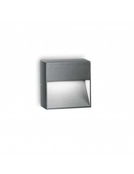 Applique per esterno con luce verso il basso Ideal Lux Down AP1, Antracite, 1 G9, alluminio pressofuso: Coppolav.it: Applique