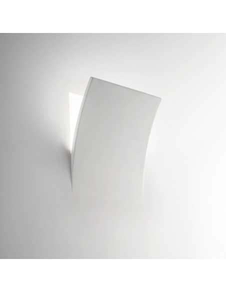 Applique in gesso con effetto muro rotto Ideal Lux Foglio AP1 Bianco, E14: Coppolav.it: Applique in gesso