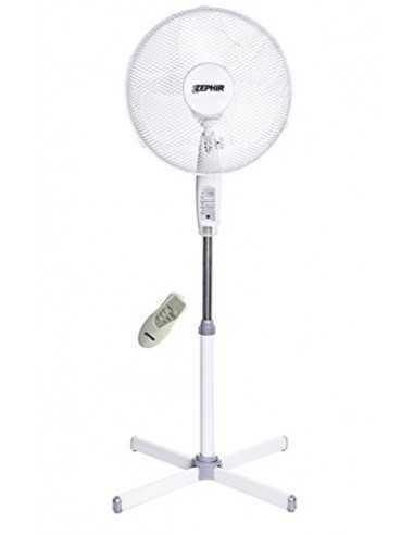 Ventilatore a piantana oscillante con telecomando e timer fino a 7,5 ore Zephir PBA42TLC, 3 Velocità, 133 cm, Pala da 40 cm