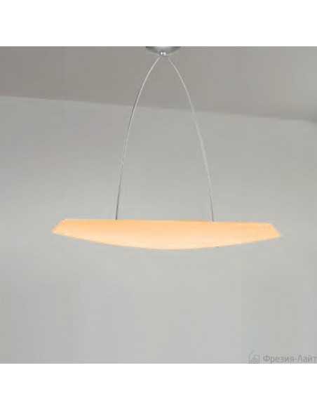 Sospensione con vetro ambra di Murano Panzeri Zenith, 4 lampadine E27, MADE IN ITALY