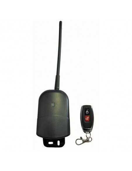 Kit da esterno per automazione di cancelli, luci, porte e serrande Bravo 90502168, 2 telecomandi e scatola stagna, 12/24V