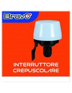 Interruttore crepuscolare per esterno IP54 Bravo 93003200, 1200W di carico massimo, 220V, 10A, 5-50 Lux