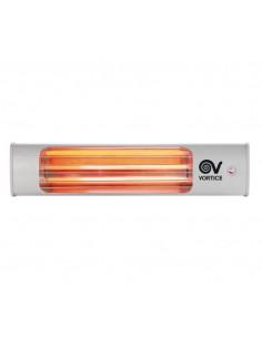 Vortice riscaldamento a parete inclinabile con cordina Thermologika 70015, 3 Lampade ad infrarossi, 1800W, MADE IN ITALY